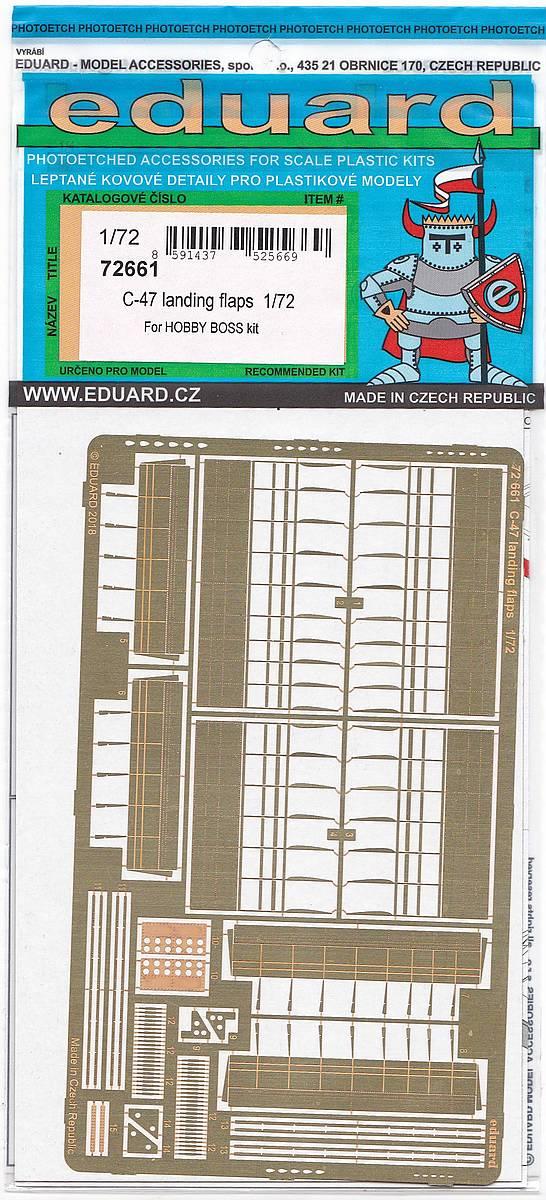 Eduard-72661-C-47Landing-Flaps-1 Ätzteilsets von Eduard für die C-47A Skytrain im Maßstab 1:72 von HobbyBoss