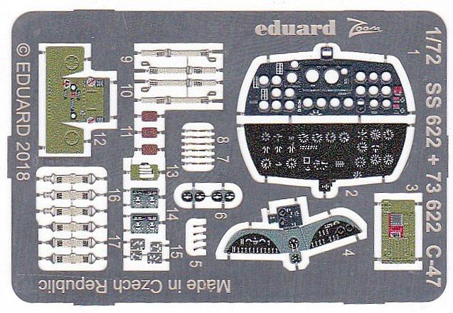 Eduard-73622-C-47-Interior-and-Exterior-3 Ätzteilsets von Eduard für die C-47A Skytrain im Maßstab 1:72 von HobbyBoss