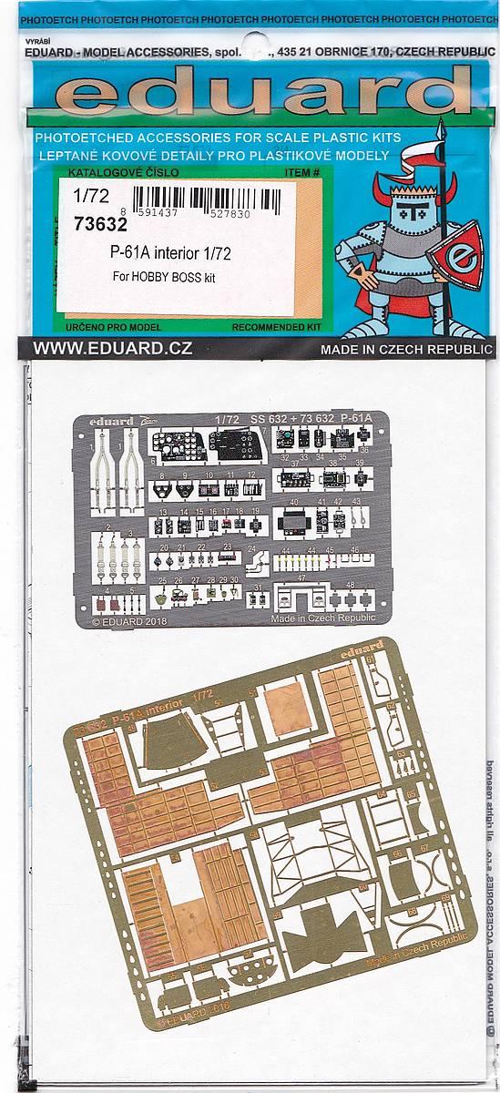 Eduard-73632-P-61A-Interior-2 Eduard Detailsets für die P-61A von HobbyBoss im Maßstab 1:72