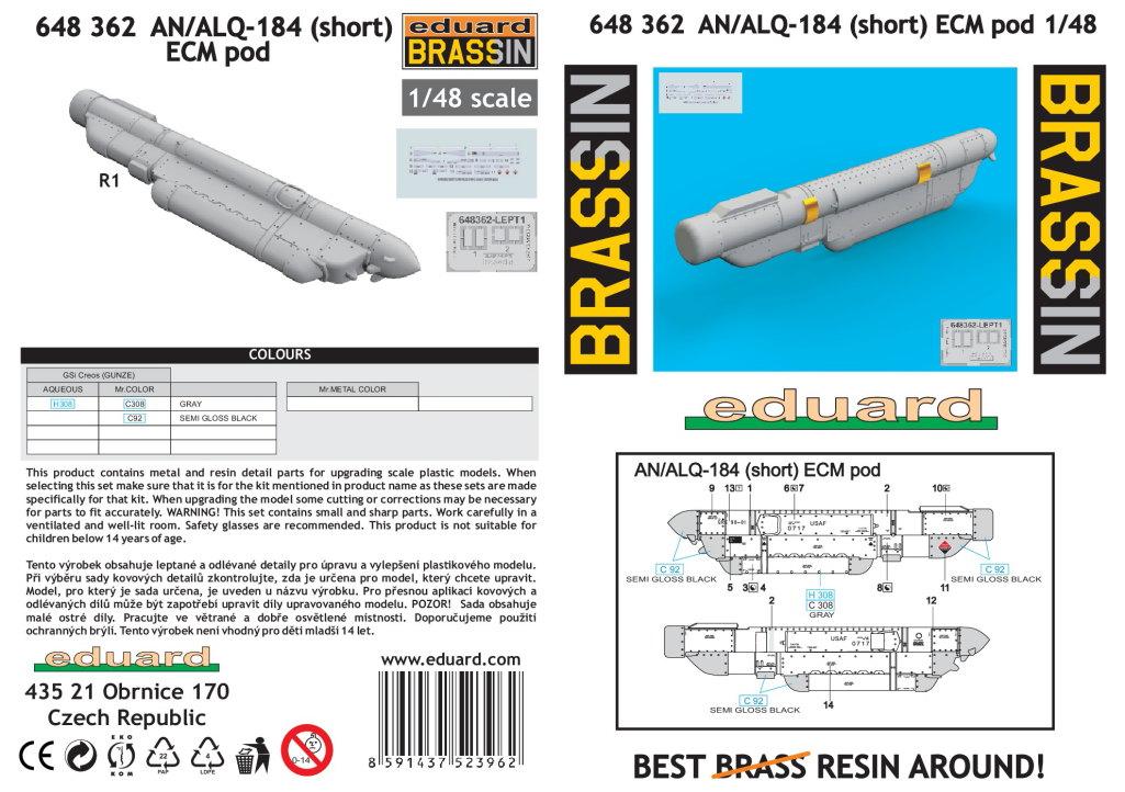 Eduard_AN_ALQ-184_short_09 AN/ALQ-184 (short) ECM Pod - Eduard BRASSIN 1/48