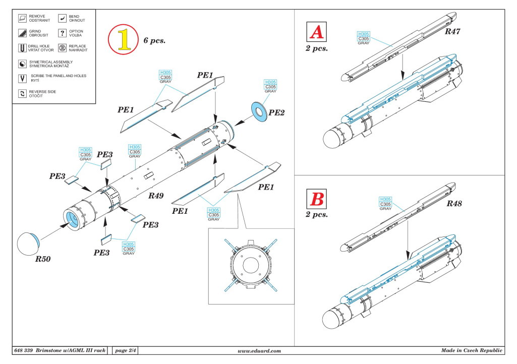 Eduard_Brimstone_w_AGML_Rack_14 Brimstone with AGML III rack - Eduard BRASSIN 1/48