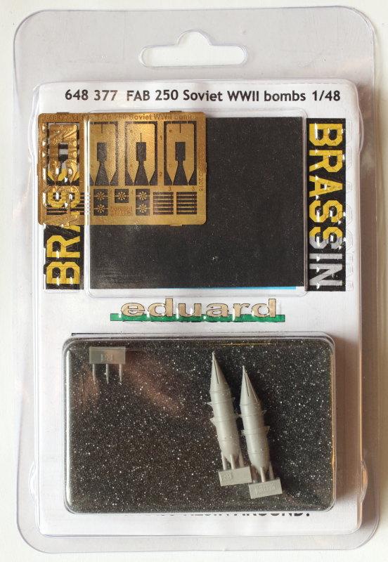 Eduard_FAB_250_29 FAB 100/250/500 - Soviet WWII Bombs - Eduard Brassin 1/48