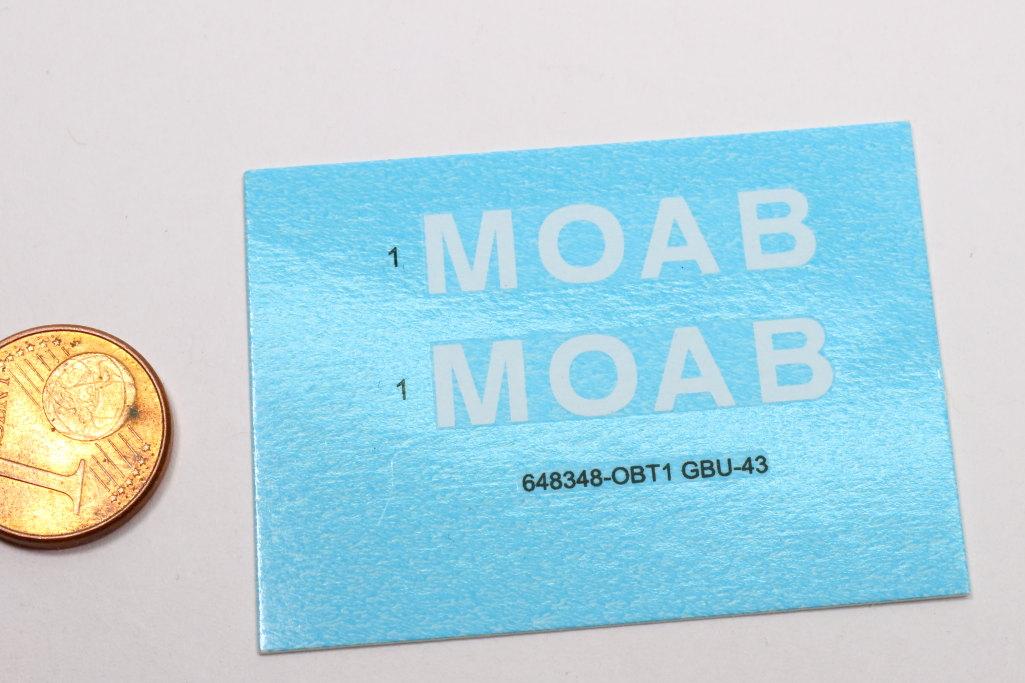 "Eduard_MOAB_1-48_16 GBU-43/B Massive Ordnance Air Blast (""MOAB"") – Eduard BRASSIN 1/48"