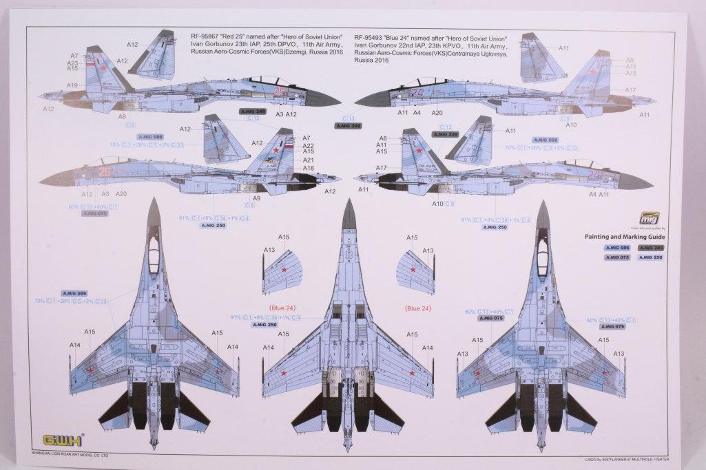"GWH_Su-35S_55 Su-35S ""Flanker-E"" - Great Wall Hobby (G.W.H) 1/48"