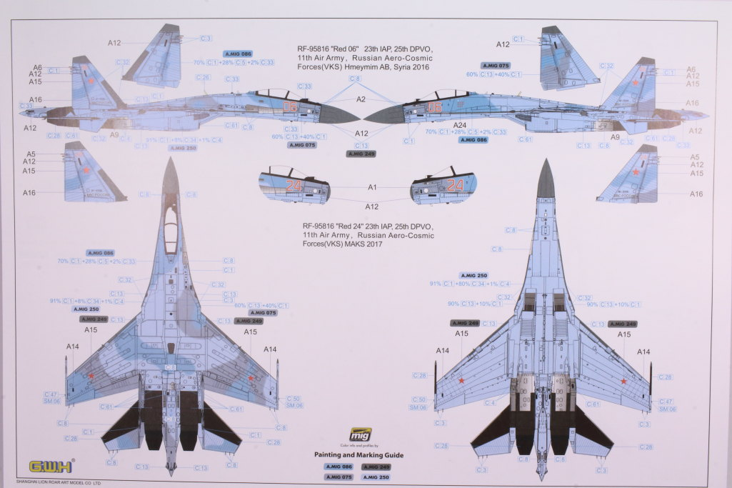"GWH_Su-35S_56 Su-35S ""Flanker-E"" - Great Wall Hobby (G.W.H) 1/48"