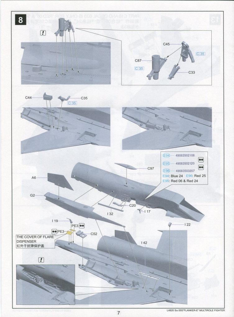 "GWH_Su-35S_74 Su-35S ""Flanker-E"" - Great Wall Hobby (G.W.H) 1/48"