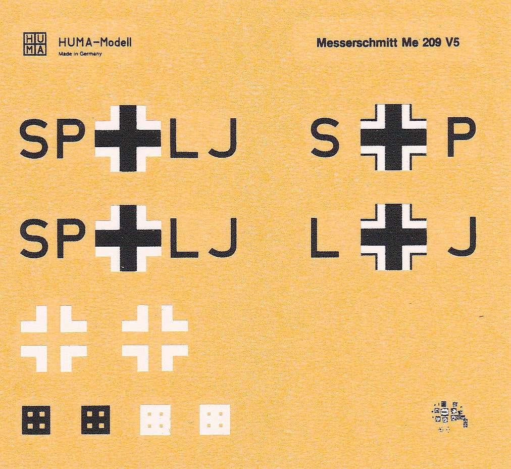 HUMA-3505-Messerschmitt-Me-209-V5-12 Kit-Archäologie - heute: Messerschmitt Me 209 V5 im Maßstab 1:72 von HUMA