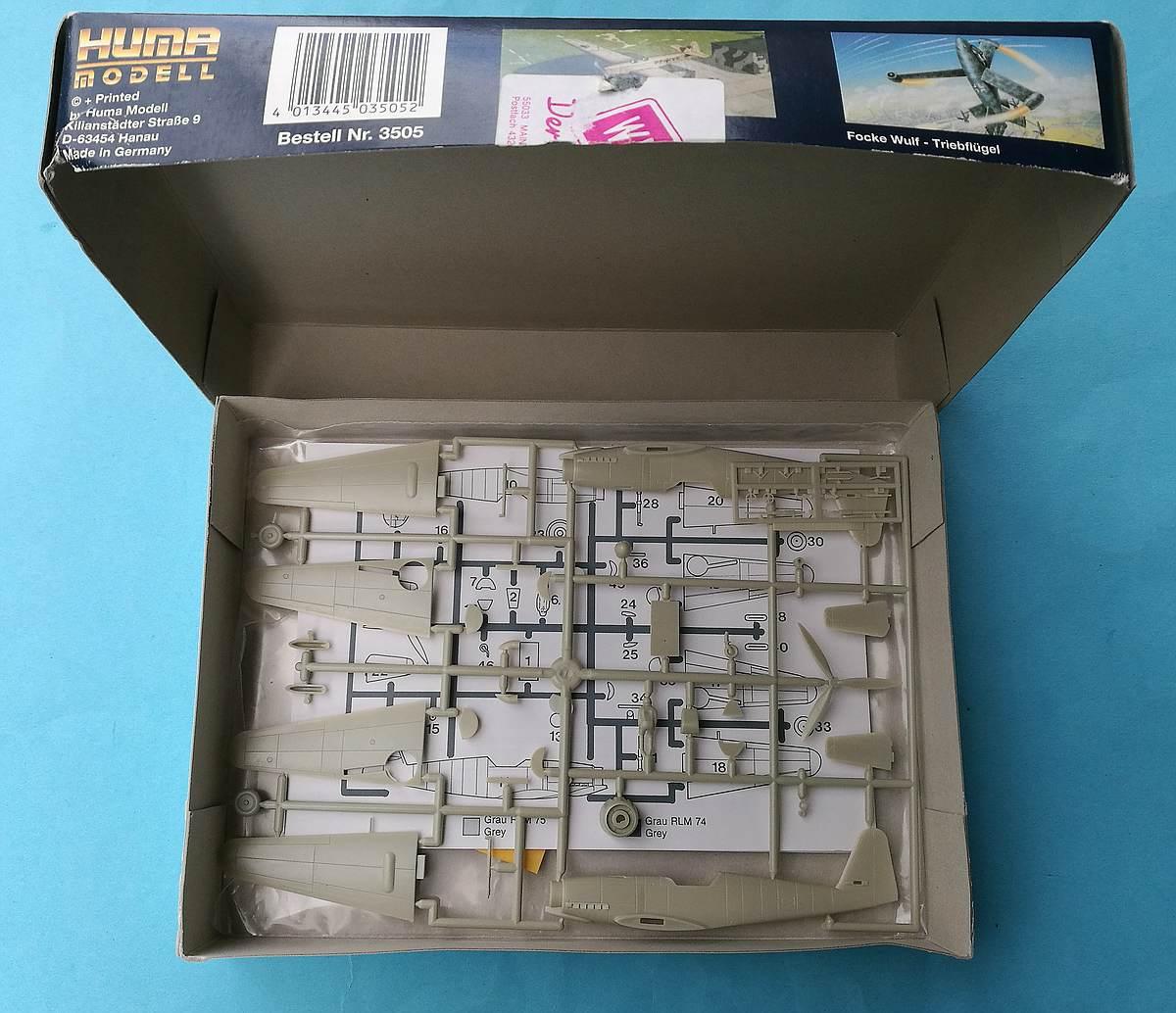 HUMA-3505-Messerschmitt-Me-209-V5-17 Kit-Archäologie - heute: Messerschmitt Me 209 V5 im Maßstab 1:72 von HUMA