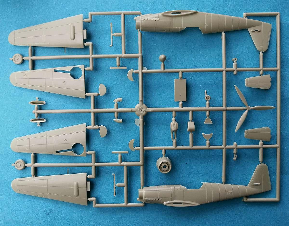 HUMA-3505-Messerschmitt-Me-209-V5-18 Kit-Archäologie - heute: Messerschmitt Me 209 V5 im Maßstab 1:72 von HUMA