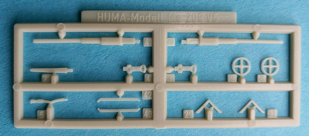 HUMA-3505-Messerschmitt-Me-209-V5-5 Kit-Archäologie - heute: Messerschmitt Me 209 V5 im Maßstab 1:72 von HUMA