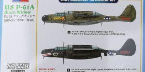 P-61A Black Widow im Maßstab 1:72 von Hobby Boss 87261