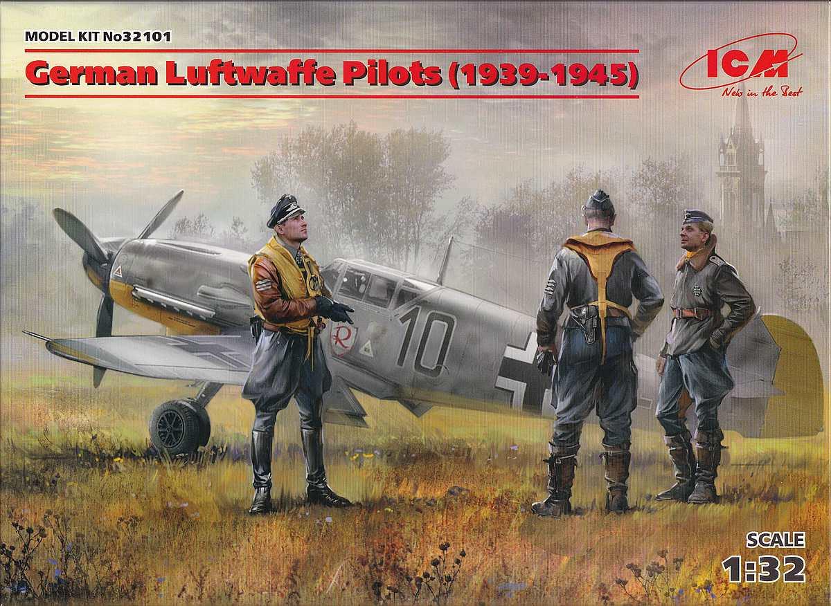 ICM-32101-German-Luftwaffe-Pilots-6 German Luftwaffe Pilots (1939-1945) im Maßstab 1:32 von ICM 32101