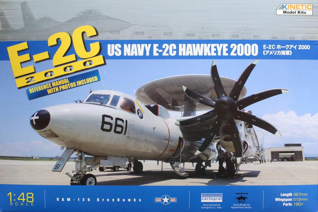Kinetic_E-2C_01 U.S. NAVY E-2C Hawkeye 2000 - Kinetic 1/48