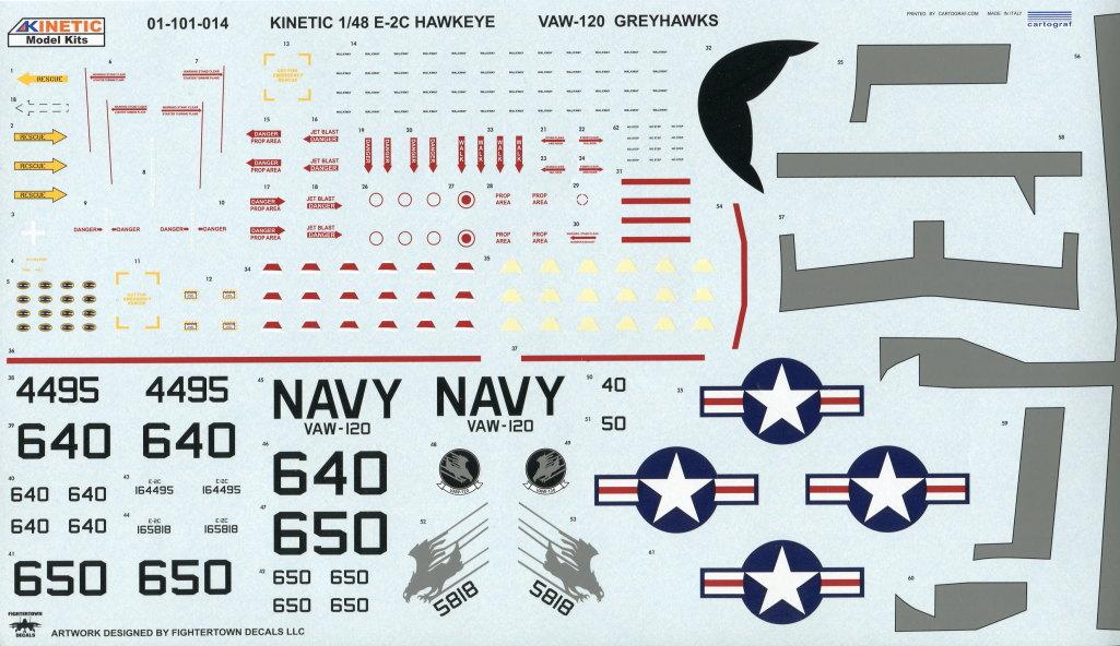 Kinetic_E-2C_38 U.S. NAVY E-2C Hawkeye 2000 - Kinetic 1/48