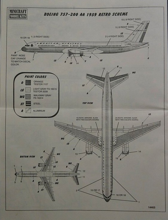 Minicraft-14463-Boeing-757-200-13 Boeing 757-200 im Maßstab 1:144 von Minicraft 14463