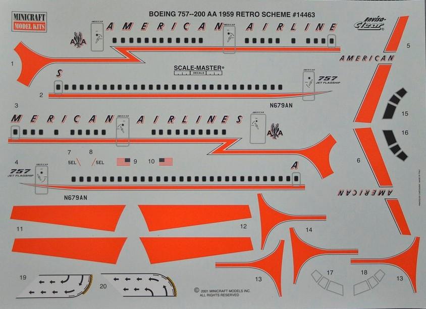 Minicraft-14463-Boeing-757-200-9 Boeing 757-200 im Maßstab 1:144 von Minicraft 14463
