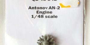 Resin-Motor für die Antonov An-2 von Hobby Boss – Quickboost 1/48