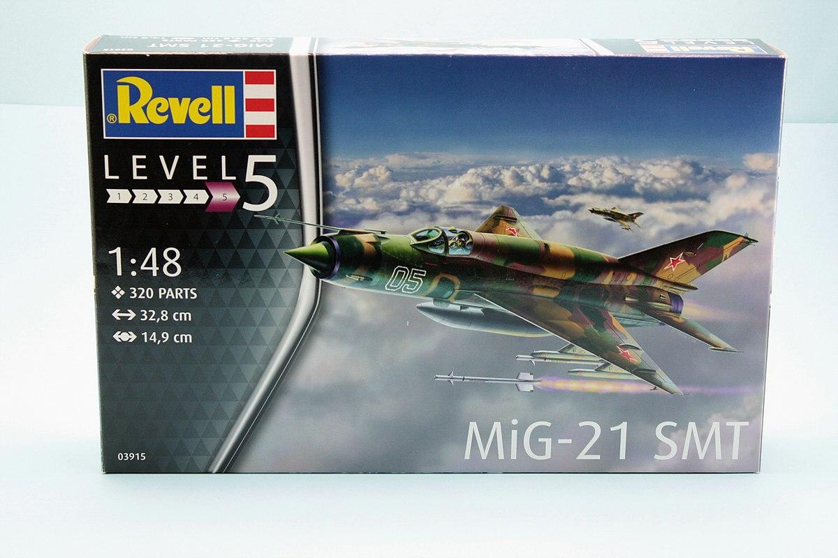 Revell-03915-MiG-21-SMT-Karton MiG-21 SMT im Maßstab 1:48 von Revell 03915