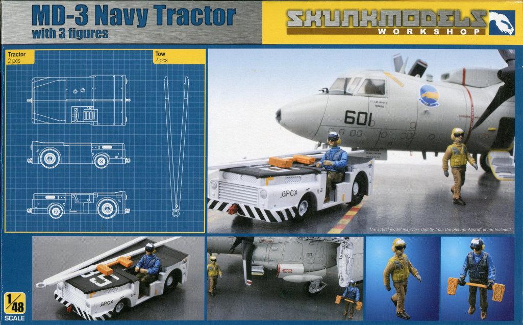 Skunk_MD-3_Tractor_01 MD-3 Navy Tractor - Skunk Models Workshop 1/48