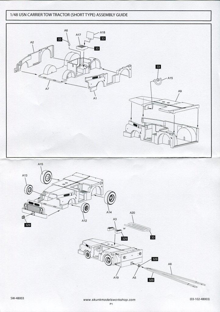Skunk_MD-3_Tractor_03 MD-3 Navy Tractor - Skunk Models Workshop 1/48