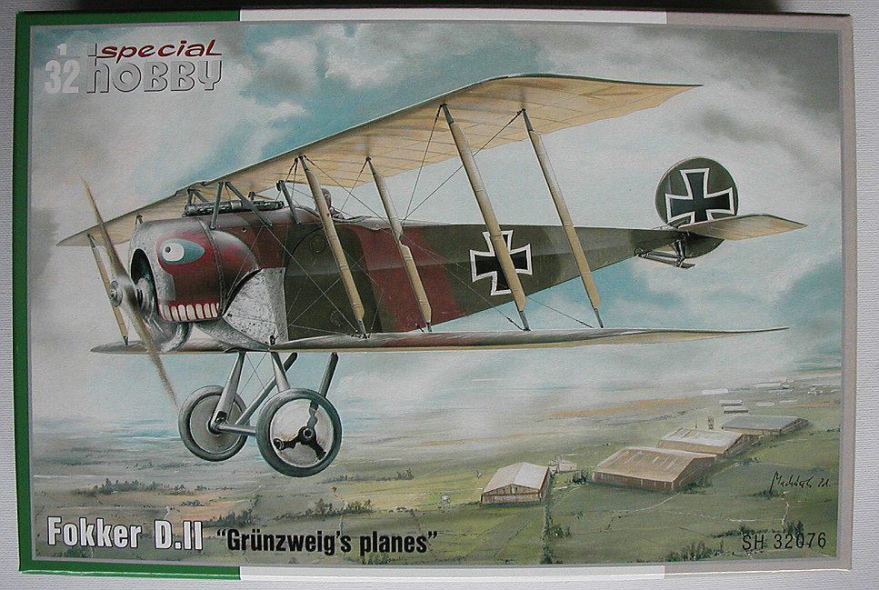 """Special-Hobby-SH-32076-Fokker-D.II-Grünzweigs-planes-17 Fokker D.II """"Grünzweigs planes"""" im Maßstab 1:32 von Special Hobby SH 32076"""