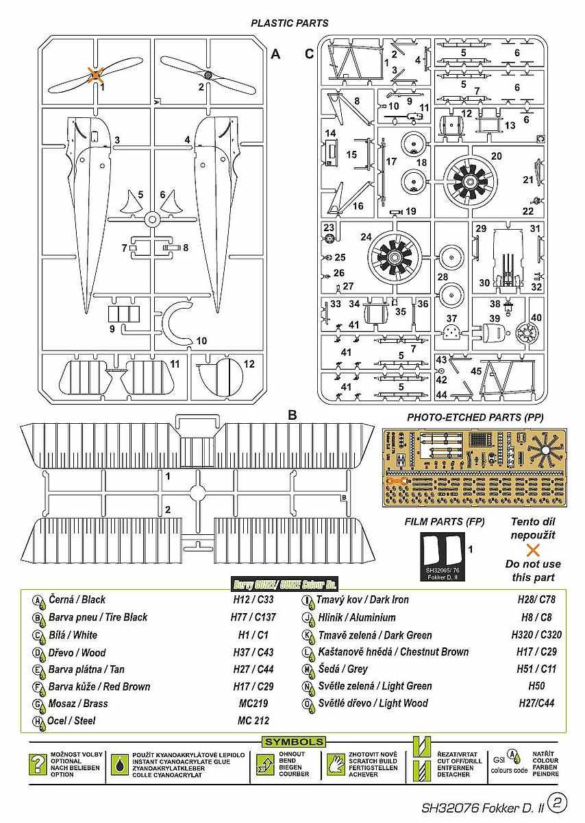 "Special-Hobby-SH-32076-Fokker-D.II-Grünzweugs-planes-1 Fokker D.II ""Grünzweigs planes"" im Maßstab 1:32 von Special Hobby SH 32076"