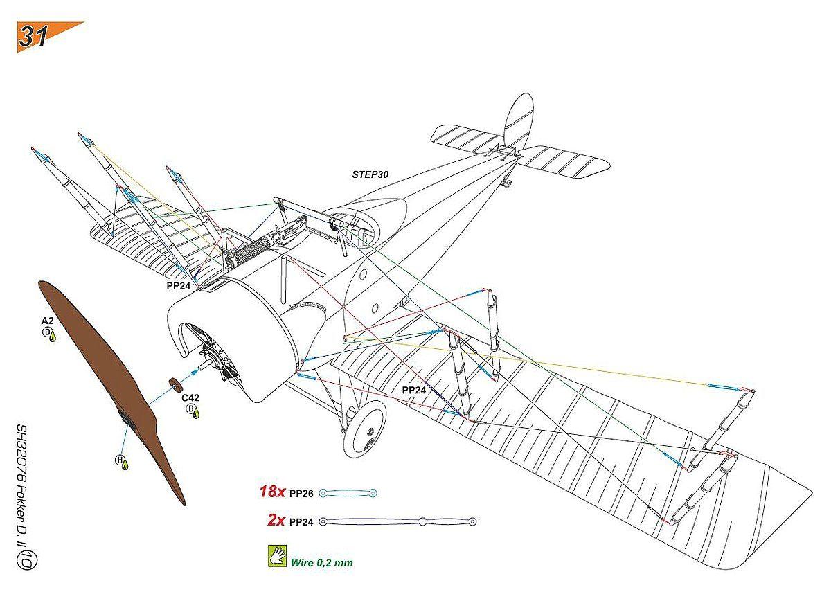 Fokker Dii Grnzweigs Planes Im Mastab 132 Von Special Hobby Sh Lang Wiring Diagram Auch Fr Die Verspannung Gibt Es Farbige Zeichnungen Deutlich Zeigen Wo Geht