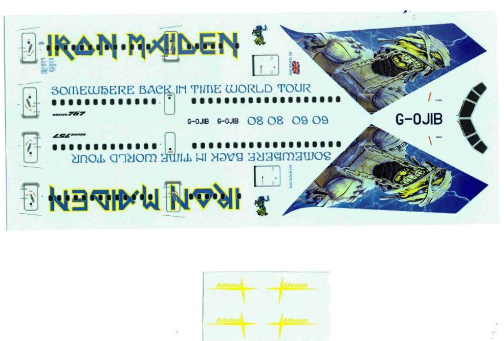 V1Decals-V1D0168-Boeing-757-200-Somewhere-Back-In-Time-0809-Livery-2 IRON MAIDEN Somewhere back in time für Minicraft Boeing 757-200 V1-Decals V1D0168