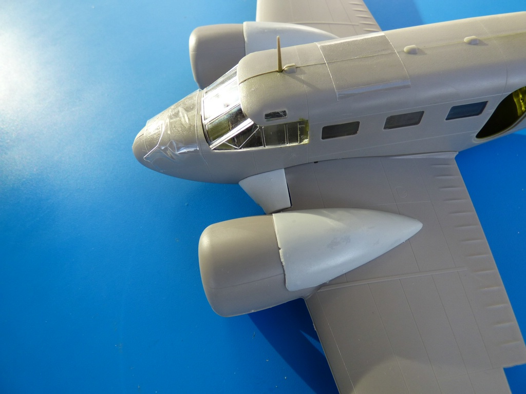 BelcherBits-Umbausatz-C-45-2 Detail- und Umbausets für die 1:48er Beechcraft 18 / Beech C-45 von Eduard und BelcherBits