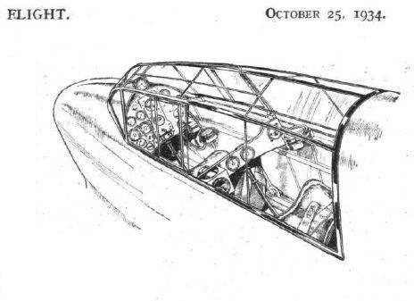 DH-88-Kanzel deHavilland DH.88 Comet Racer in 1:72 von KP Models KPM 0099