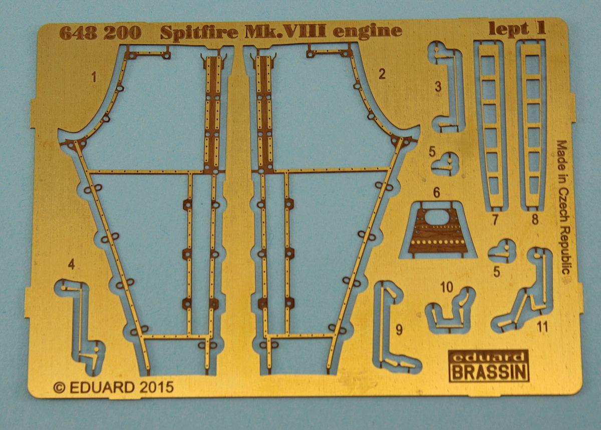 Eduard-648200-Motor-Spitfire-Mk.VIII-BRASSIN-1 BRASSIN Motor für die Spitfire Mk. VIII im Maßstab 1:48 von Eduard 648200