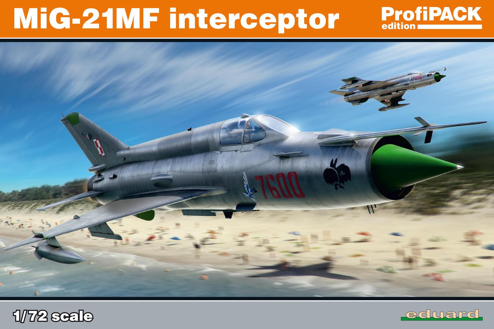 Eduard-70141-MiG-21MF-ProfiPack-1 MiG-21MF Interceptor im Maßstab 1:72 von Eduard 70141
