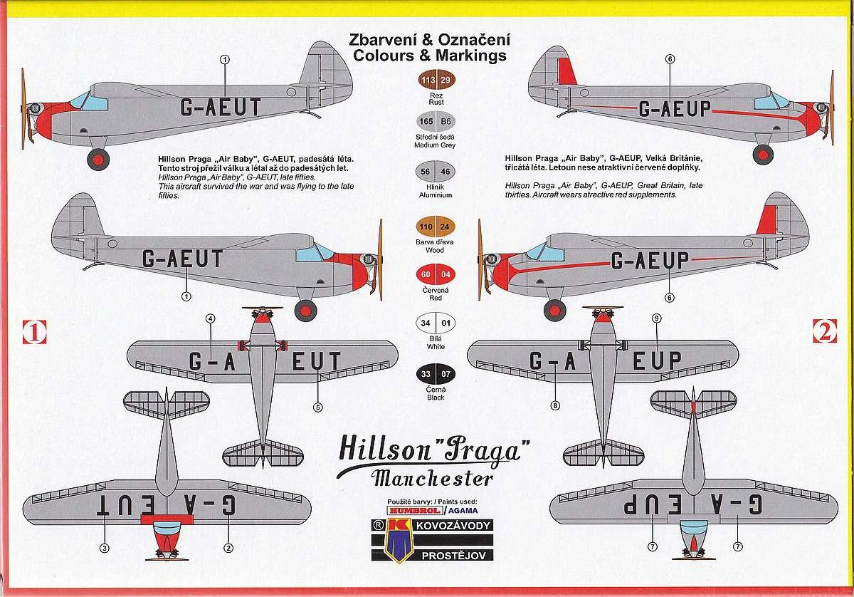 KP-Models-KPM-0094-Hillson-Praga-E-114B-Air-baby-14 Hillson / Praga E-114B Air Baby in 1:72 von KP Models KPM 0094