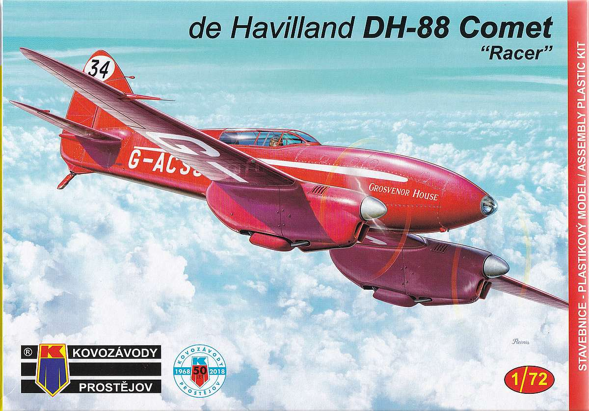KP-Models-KPM-0099-DH-88-Comet-Racer-1 deHavilland DH.88 Comet Racer in 1:72 von KP Models KPM 0099
