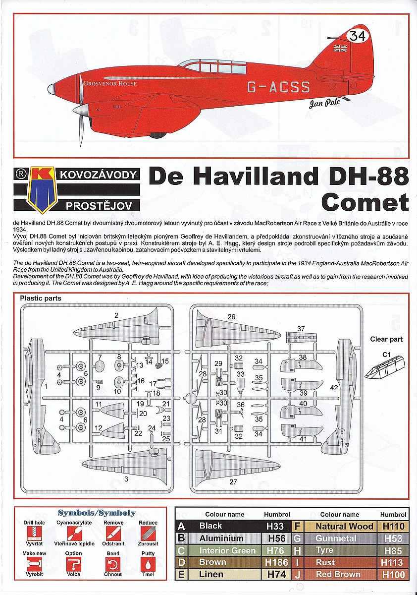 KP-Models-KPM-0099-DH-88-Comet-Racer-7 deHavilland DH.88 Comet Racer in 1:72 von KP Models KPM 0099