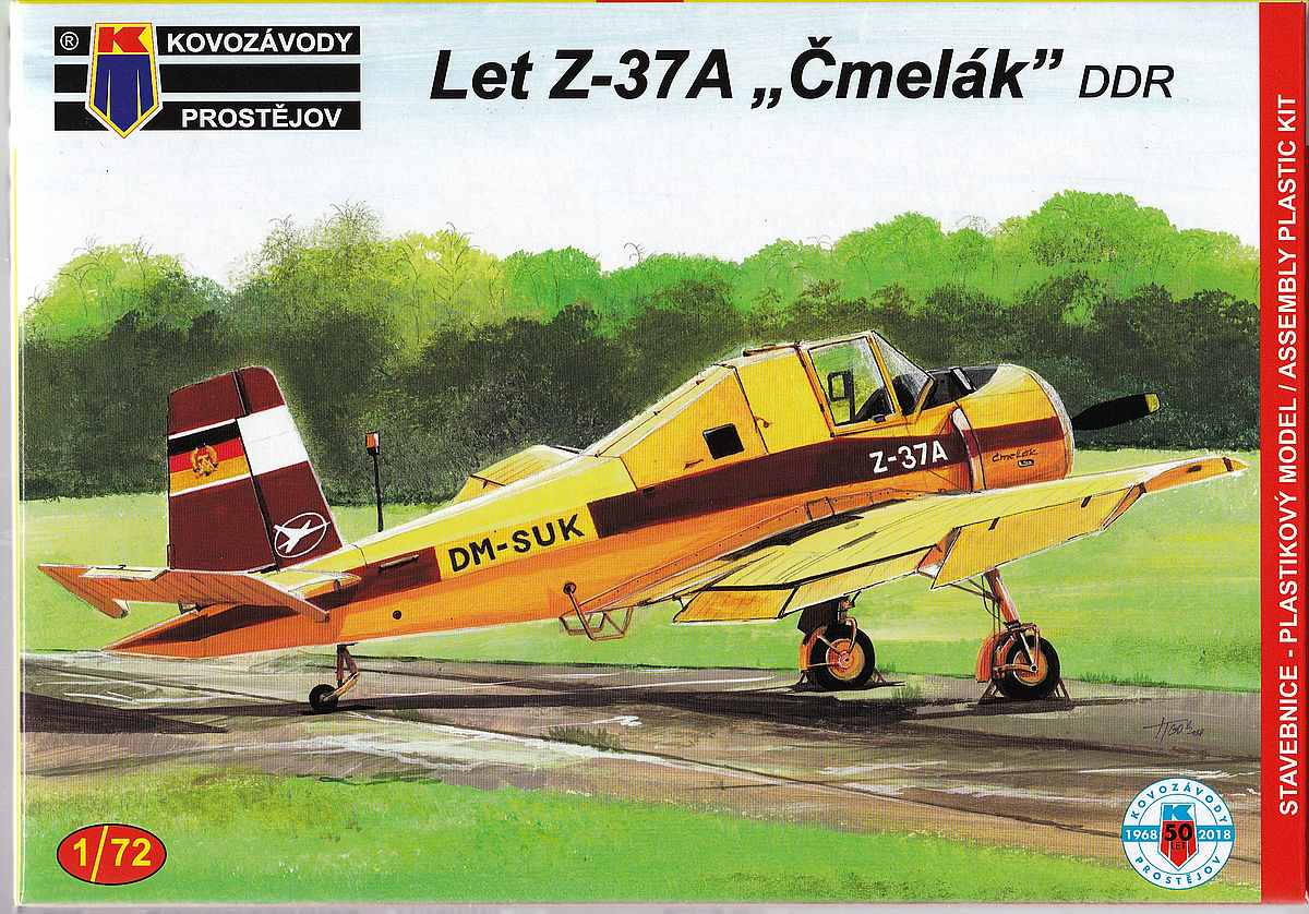 KP-Models-KPM-0109-Let-Z-37A-Cmelak-1 Let Z-37A im Maßstab 1:72 von KP Models KPM 0109