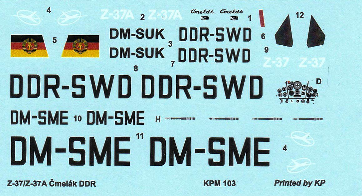 KP-Models-KPM-0109-Let-Z-37A-Cmelak-3 Let Z-37A im Maßstab 1:72 von KP Models KPM 0109