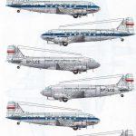 Karaya-144-10-DC-3-LOT-1-150x150 Decals für die Douglas DC-3 bzw. C-47 im Maßstab 1:144 von Karaya