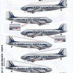 Karaya-144-12-DC-3-Air-France-2-150x150 Decals für die Douglas DC-3 bzw. C-47 im Maßstab 1:144 von Karaya