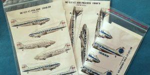 Decals für die Douglas DC-3 bzw. C-47 im Maßstab 1:144 von Karaya