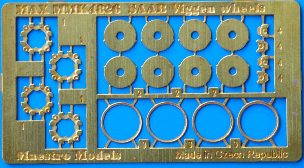 MaestroModels-4826-Räderset-für-alle-Viggenversionen-3 Detailsets für die 1:48er Viggen von Special Hobby