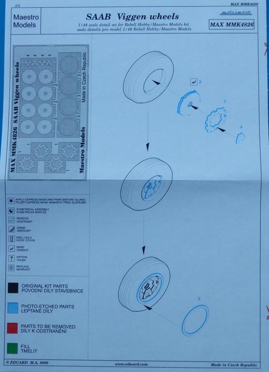 MaestroModels-4826-Räderset-für-alle-Viggenversionen-4 Detailsets für die 1:48er Viggen von Special Hobby