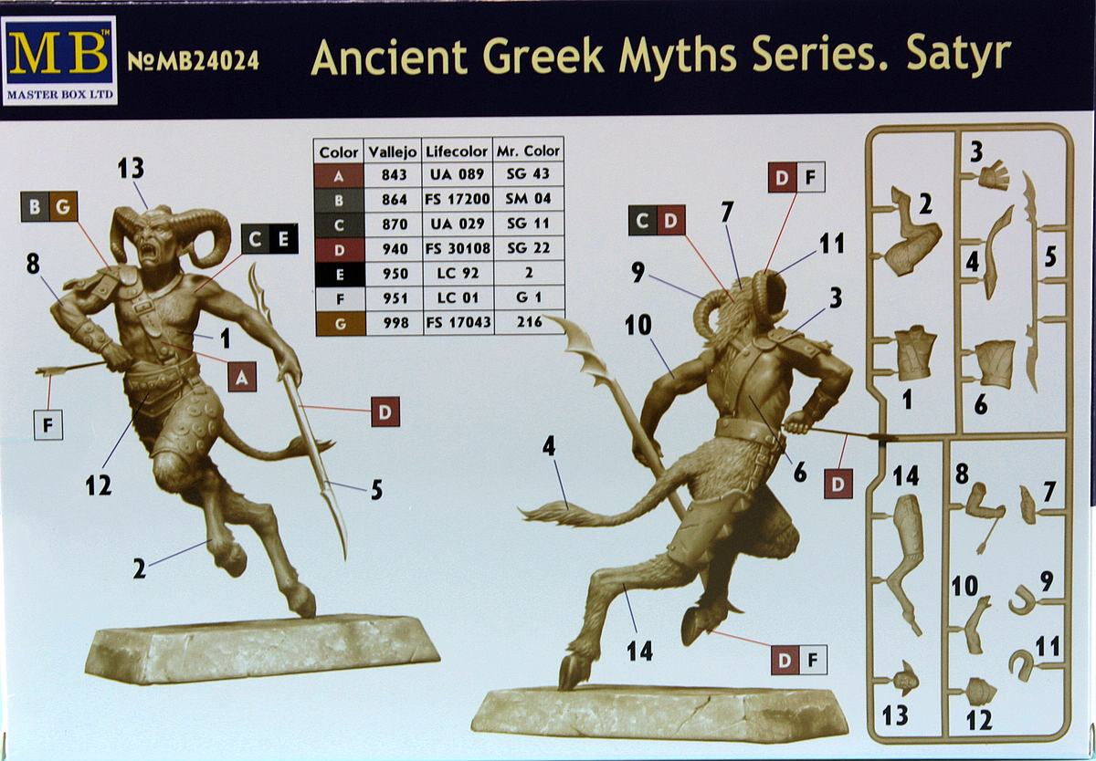 MasterBox-24024-Satyr-2 SATYR aus der Ancient Greek Myths Series in 1:24 von MasterBox MB 24024