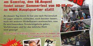 18. August: Sommerfest bei Modellbau König