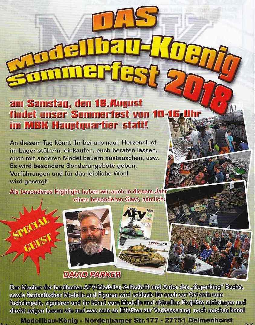 Modellbau-König-Sommerfest-2018 18. August: Sommerfest bei Modellbau König