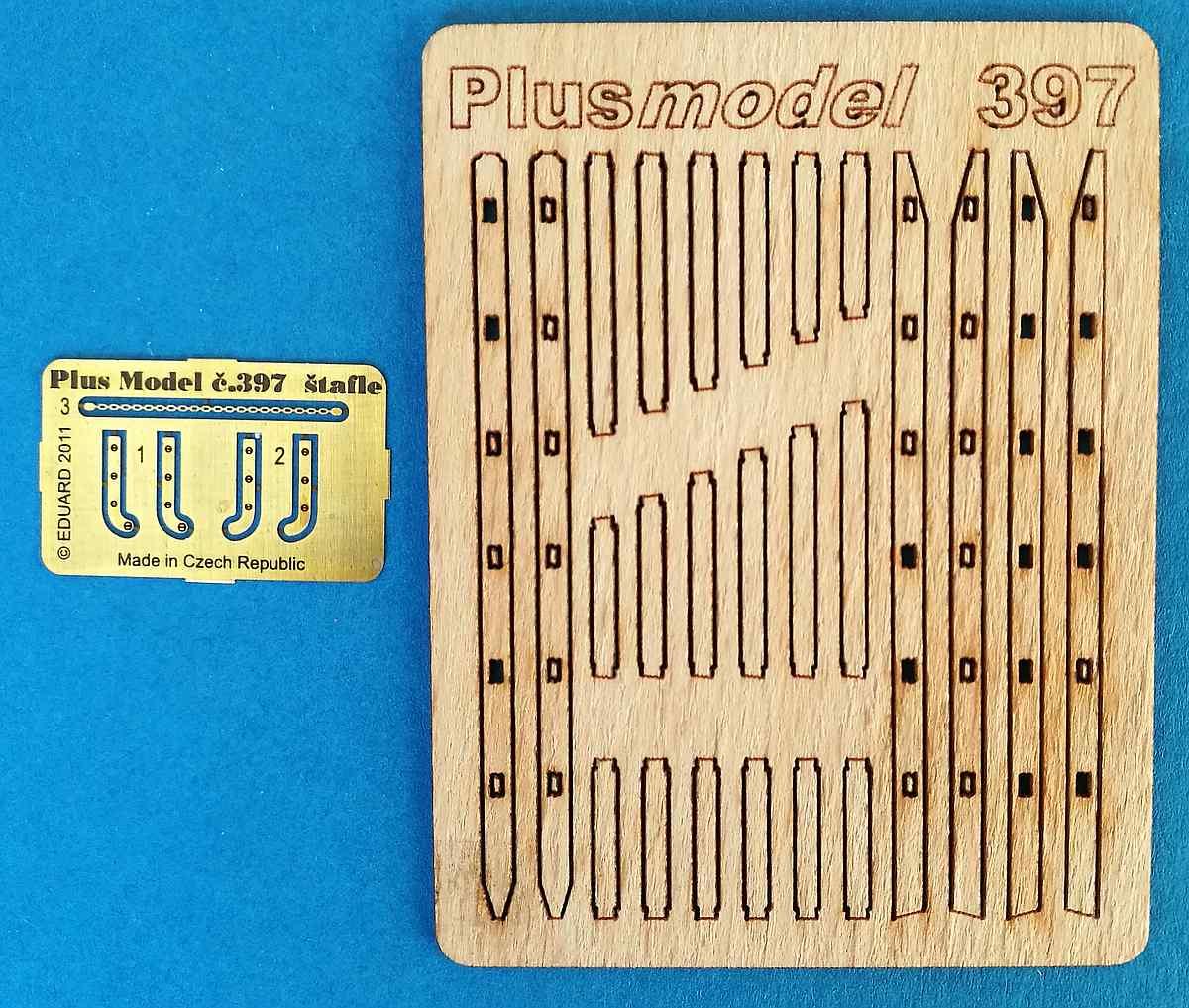 PlusModel-397-Stepladders-2 Stepladders im Maßstab 1:35 von PlusModels 397