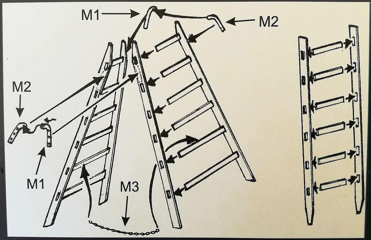 PlusModel-397-Stepladders-5 Stepladders im Maßstab 1:35 von PlusModels 397