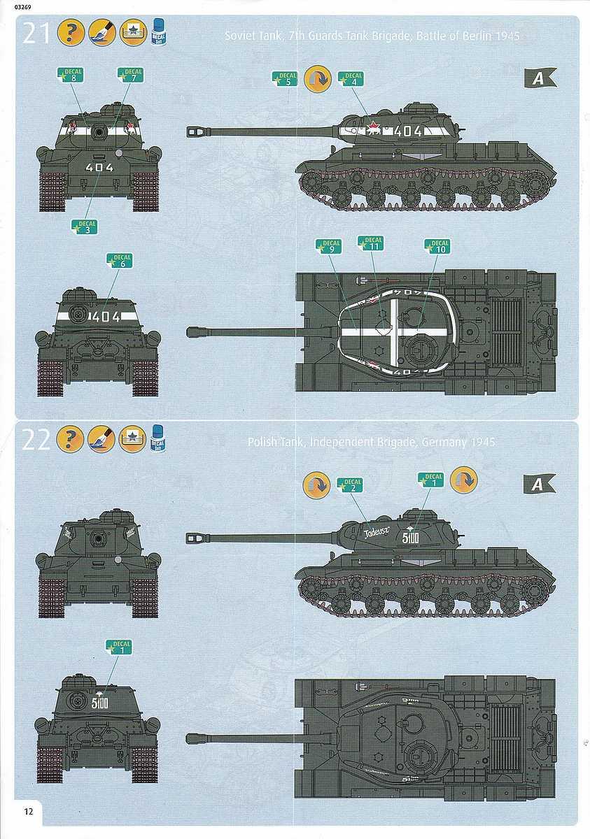 Revell-03269-Soviet-Heavy-Tank-IS-2-10 Soviet Heavy Tank IS-2 im Maßstab 1:72 von Revell 03269