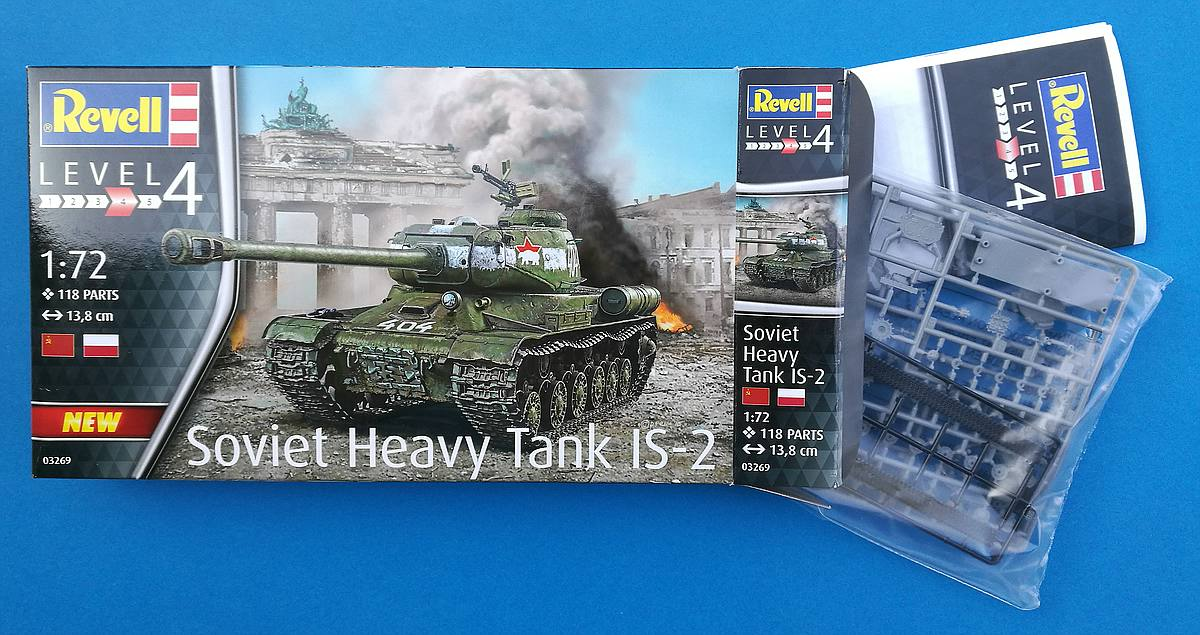 Revell-03269-Soviet-Heavy-Tank-IS-2-12 Soviet Heavy Tank IS-2 im Maßstab 1:72 von Revell 03269