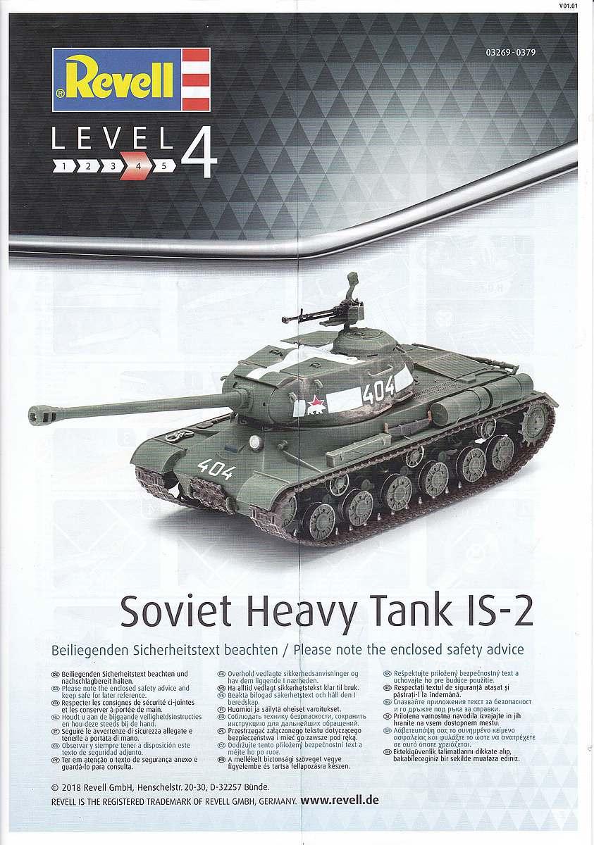 Revell-03269-Soviet-Heavy-Tank-IS-2-2 Soviet Heavy Tank IS-2 im Maßstab 1:72 von Revell 03269